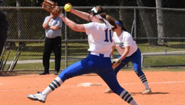 Bay College Norse softball pitcher