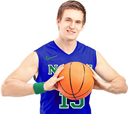 Bay College Norse basketball player