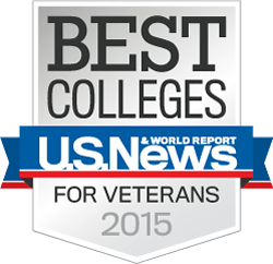 US News and World Reports, Best Colleges for Veterans 2015 badge
