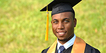 CCBC Honors student at commencement