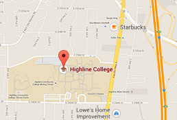 Map to Highline College
