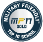 Military Friendly '17 Gold Top 10 School