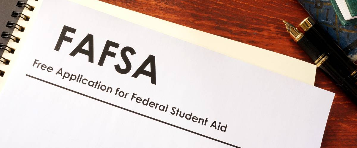 Paper FAFSA form on desk